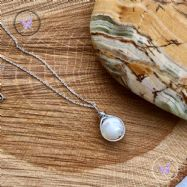 Mother Of Pearl Wire Wrapped Pendant